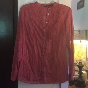 Gap button down floral top sz M